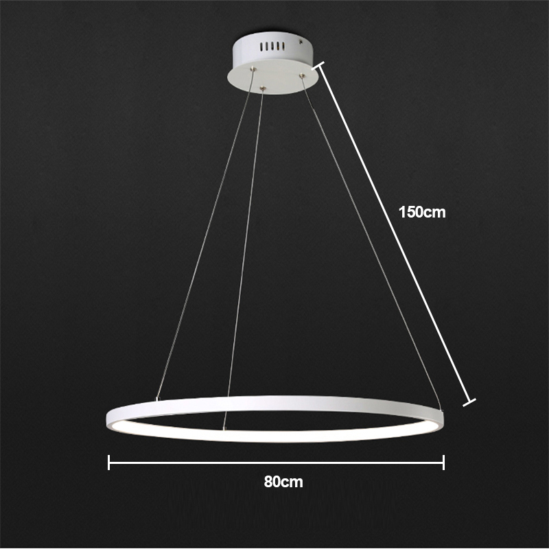 (EU Lager)Led Pendelleuchte Modern Ring Design aus Acryl 80 cm